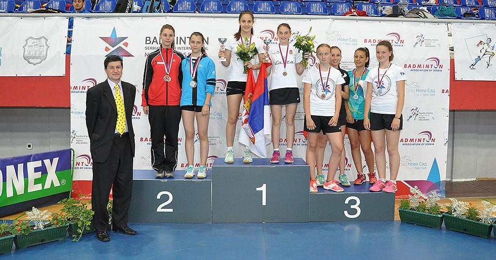 WD U15 Medal Podium